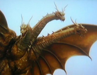 Grand King Ghidorah in Rebirth of Mothra III (click to enlarge)