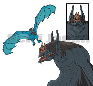 Giant Bat concept art