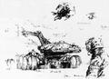 Concept Art - Godzilla vs. Biollante - MBT-92 2