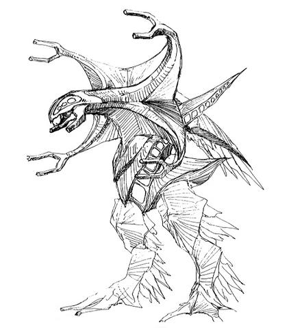 File:Concept Art - Godzilla 2000 Millennium - Orga 47.png