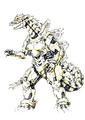 Concept Art - Godzilla Against MechaGodzilla - Kiryu 56