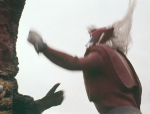 File:Go! Godman - Episode 6 Godman vs. Gorosaurus - 30 - Should've thrown him into space.png