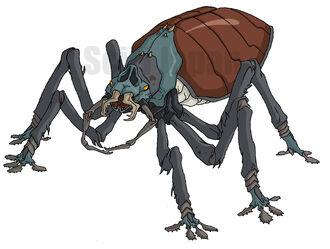 Giant Water Beetle concept art