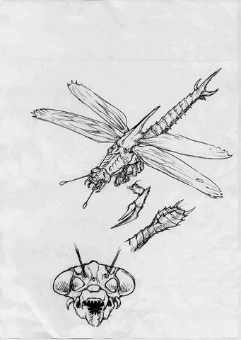 File:Concept Art - Godzilla vs. Megaguirus - Meganula 4.png