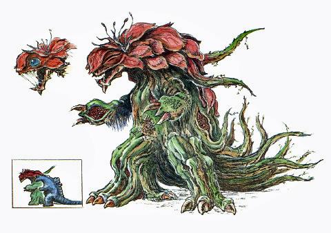 File:Concept Art - Godzilla vs. Biollante - Biollante 15.png