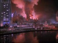 Godzilla vs. Mothra- Godzilla in Yokohama
