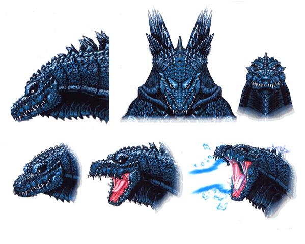 File:Concept Art - Godzilla 2000 Millennium - Godzilla Head 13.png