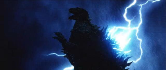 File:Godzilla X MechaGodzilla - Godzilla Being Struck By Lightning.png