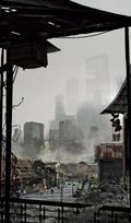Godzilla 2014 Art of Destruction Concept Art - Quarantined Area 1