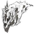 Concept Art - Godzilla Final Wars - Monster X Head 1
