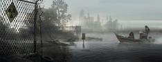 Godzilla 2014 Art of Destruction Concept Art - Quarantined Area 2