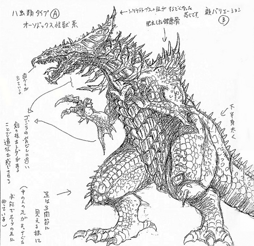 File:Concept Art - Godzilla 2000 Millennium - Orga 8.png