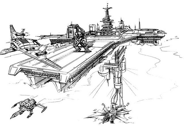 File:Concept Art - Godzilla vs. MechaGodzilla 2 - G-Force Base.png