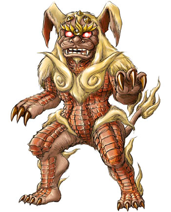 File:Concept Art - Godzilla Final Wars - King Caesar 1.png