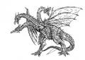 Concept Art - Rebirth of Mothra 3 - Cretaceous King Ghidorah 3