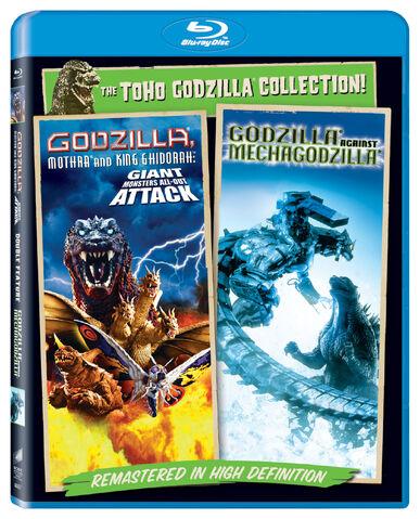 File:Sony Toho Godzilla Collection Blu-Rays - Godzilla, Mothra and King Ghidorah Giant Monsters All-Out Attack and Godzilla Against MechaGodzilla.jpg