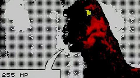 GODZILLA THE ATOMAR NIGHTMARE (ZX Spectrum 48K) Gameplay