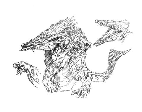 File:Concept Art - Godzilla 2000 Millennium - Orga 23.png