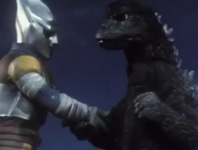 File:Godzilla vs. Megalon 9 - Godzilla and Jet Jaguar Team Up.png