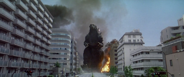 File:Godzilla vs. Megaguirus - Godzilla walks around the city.png