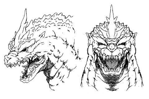 File:Concept Art - Godzilla vs. SpaceGodzilla - SpaceGodzilla Head 2.png