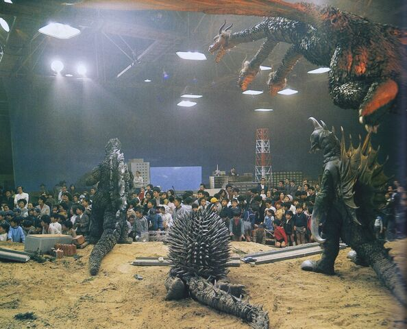 File:GVG - Godzilla, Anguirus, King Ghidorah and Gigan Viewing a Crowd.jpg