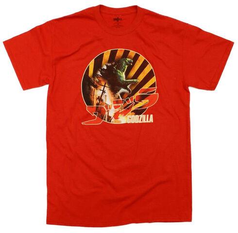 File:Godzilla 2014 Godzilla The Movie Burining Down Retro T-Shirt.jpg