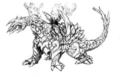Concept Art - Rebirth of Mothra - Desghidorah 6