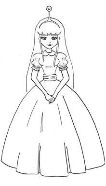 Princess bubblegum line art by xyukicrossx-d612v91