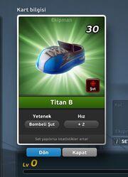 Titan B Krampon (Bombeli Şut) Ön Yüz
