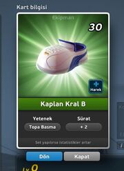Kaplan Kral B Krampon (Topa Basma) Ön Yüz