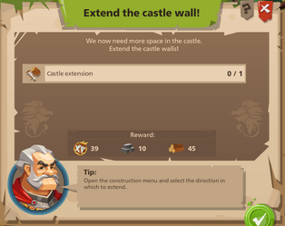 Extend the castle wall