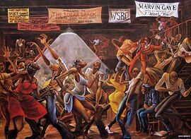 Sugar Shack Ernie Barnes painting