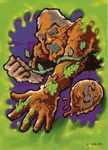 Mudmonster-tradingcard-glowinthedark