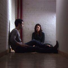Dan and Blair talking
