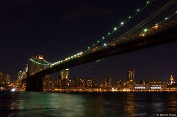 Brooklyn bridge at night 6308