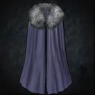 Warm Fur-Lined Cloak