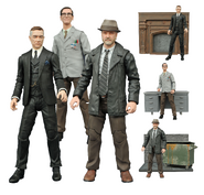 Edward Nygma, Alfred Pennyworth, and Harvey Bullock Diamond Select Toys figurines