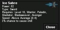 Ice Sabre