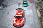Top view of race cars