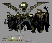 S2e1 zombie group production art