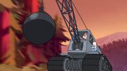 S1e19 gideon on a bulldoser