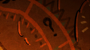 S2e20 cave painting question mark