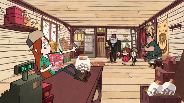 File:S1e1 wendy reading magazine at counter.png