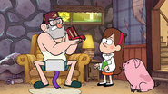 S1e10 Grunkle Stan with a pair of high heels
