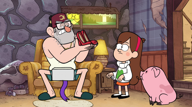 File:S1e10 Grunkle Stan with a pair of high heels.png