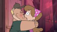 S1e16 kissy face hug