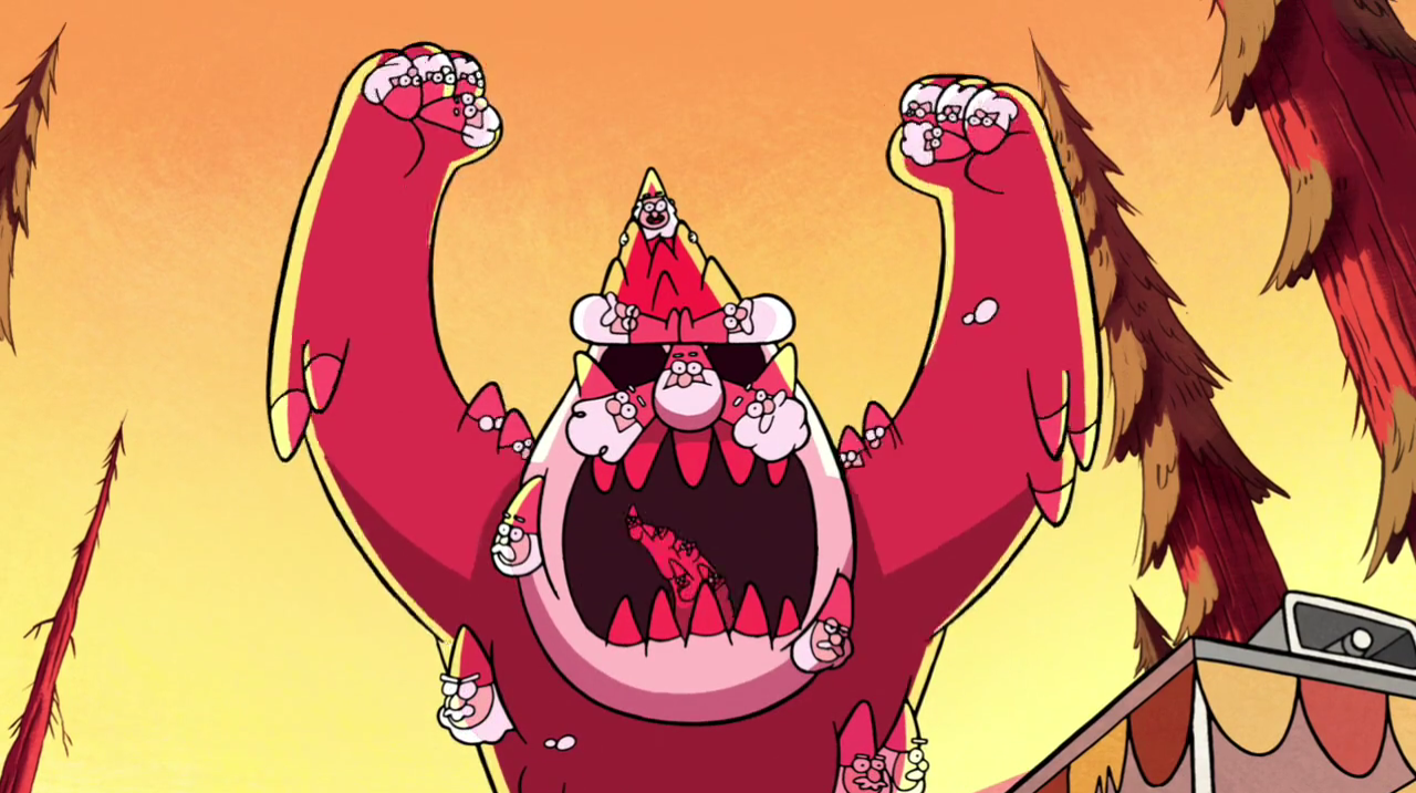 image s1e1 gnome monster arms up png gravity falls wiki