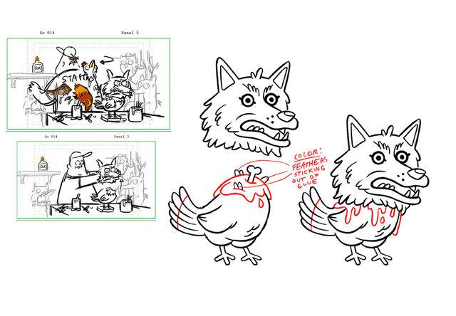 File:Chris Houghton S1e13 wolf chicken rough.jpg