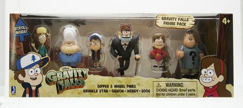 Gravity Falls Six Toy Pack Dipper Mabel Stan Soos Wendy Gideon packaging.jpg